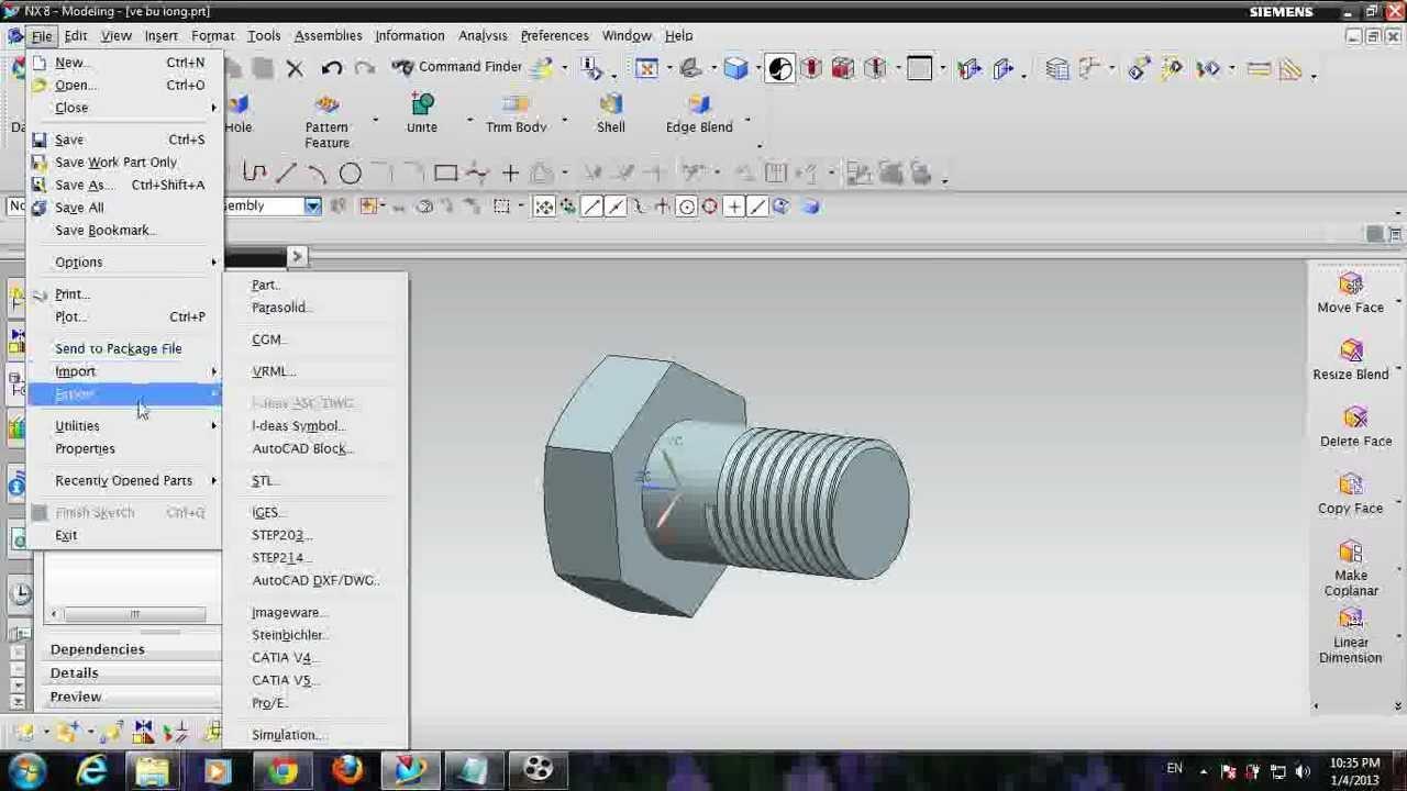 UGS NX | 3D Models into STL Files